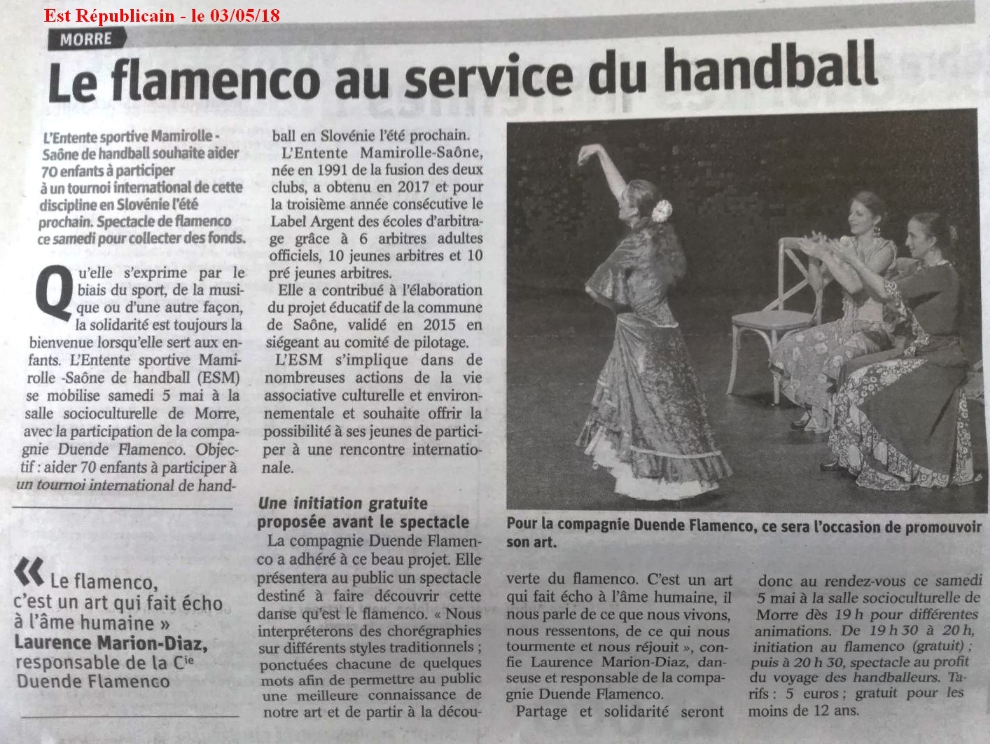 Article a la dec du flamenco est rep 030518