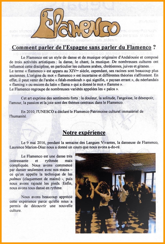 Article comp journal du lycee atelier decouverte du flamenco lycee condorcet 9 mai 2016 duende flamenco