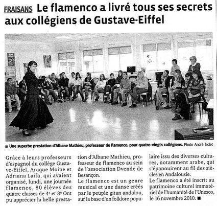 Article Est Rép Collège Fraisans