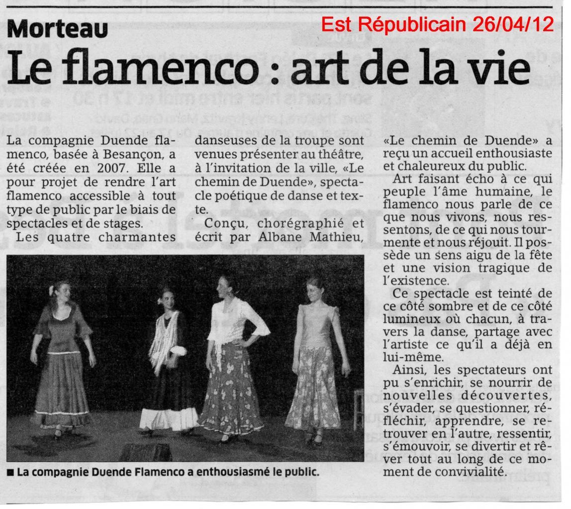 Article Est Républicain Chemin Duende Morteau 190412