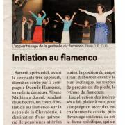 Article journal Saone et Loire 230912 Découverte Flamenco St Amour