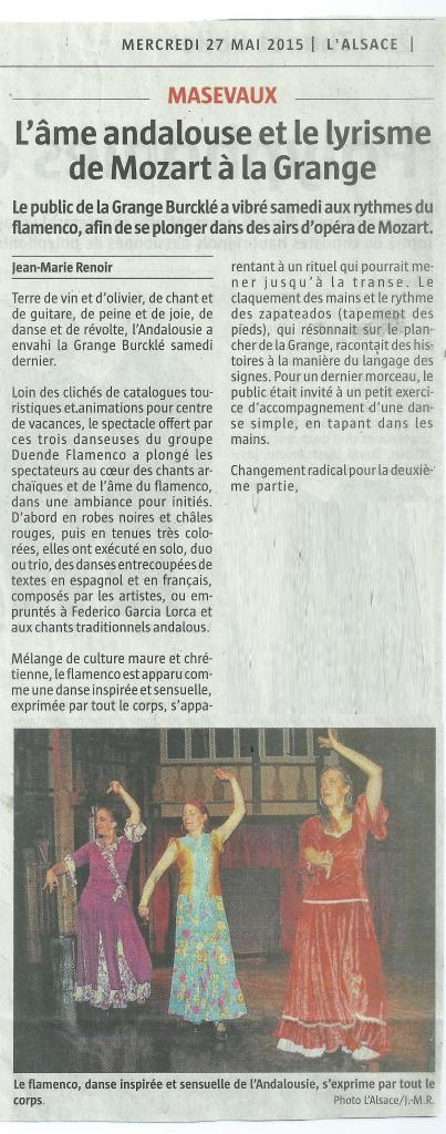 article L'Alsace 270515