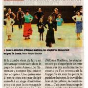 Article Le Progrès 230912 Découverte Flamenco St Amour