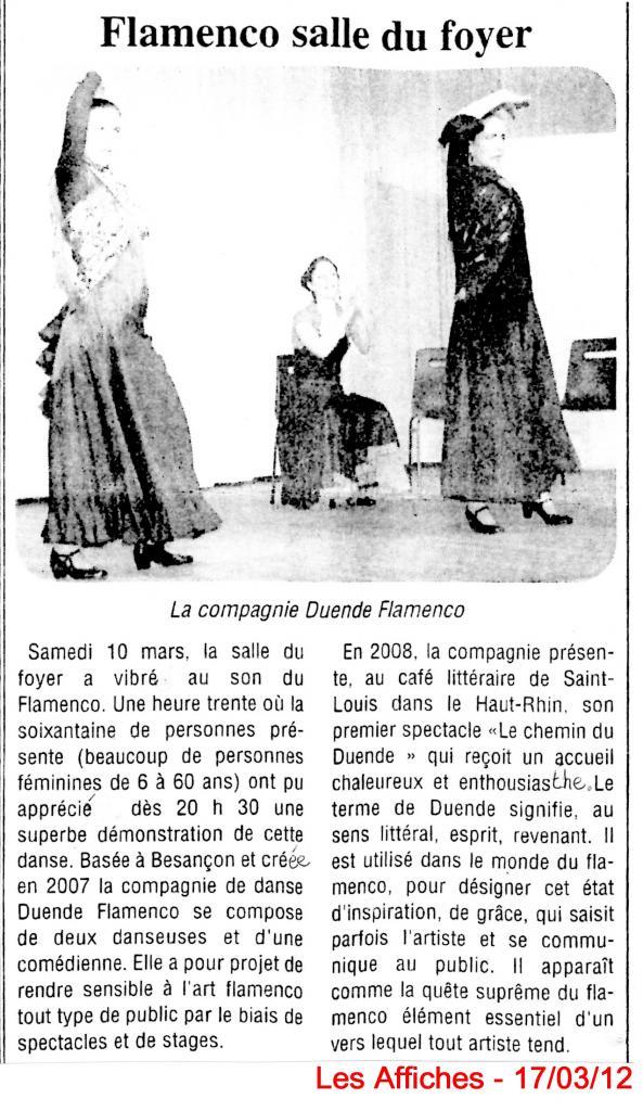 Article les Affiches Chemin à Villersexel 100312