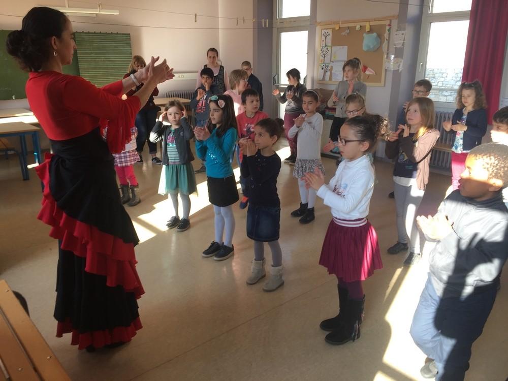 Classe cp et clex ecole fanart parcours culturel 2018 duende flamenco