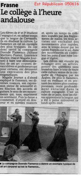 Flamenco Collège Frasne Est rép 050616
