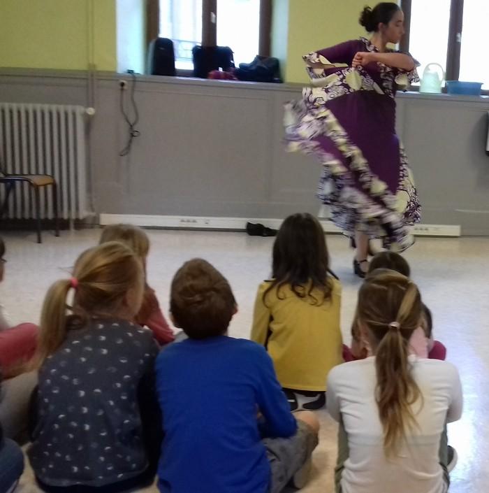 Residence drac st hippolyte 18 19 duende flamenco danser ses emotions cp ce1 5