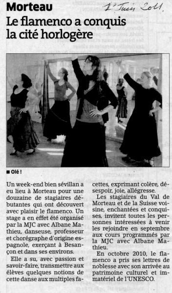 Stage morteau Est Répub 010611
