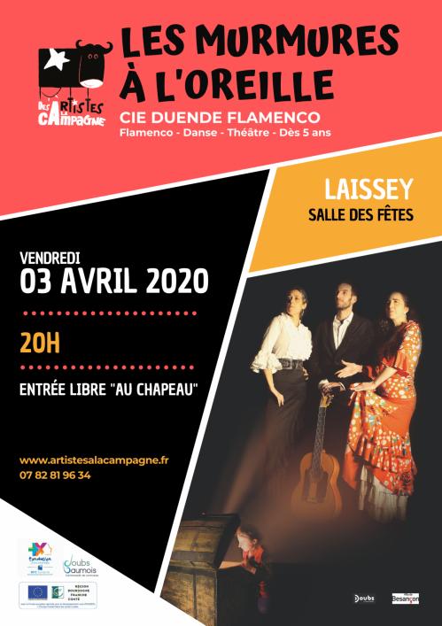Affiche artistes campagne duende flamenco 3 avril 2020 a laissey