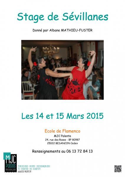 Affiche stage sevillanes 2015
