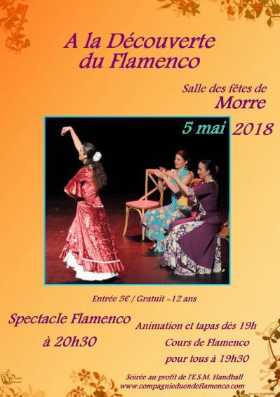 Affiche web a la decouverte du flamenco 5 mai 2018 duende flamenco et esm handball