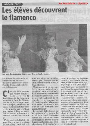 Article comp est rep residence artistique a st hippolyte 2018 19 duende flamenco