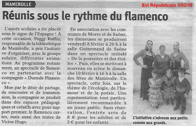 Article est rep 050219 animation plateau mamirolle duende flamenco