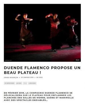 Article flamenco sur le plateau webzine Gd Besancon page 1