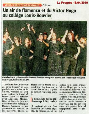 Article le progres residence college bouvier st laurent 160419 web