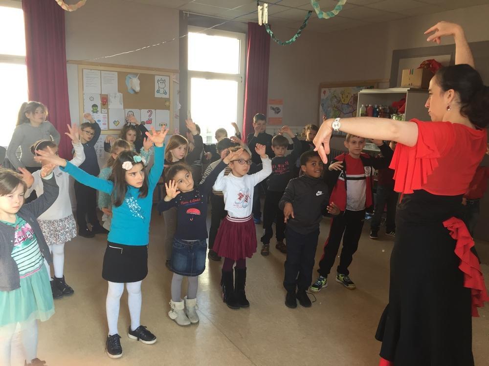 Classe cp et clex ecole fanart parcours culturel 2018 duende flamenco 2