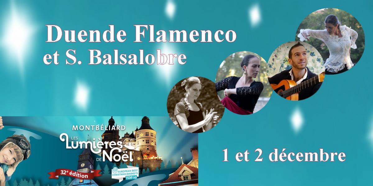 Duende flamenco au marche de noel de montbeliard 2018