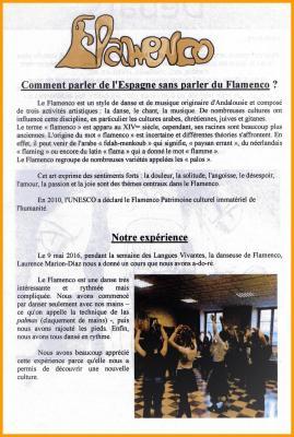 Flamenco lycee condorcet 9 mai 2016
