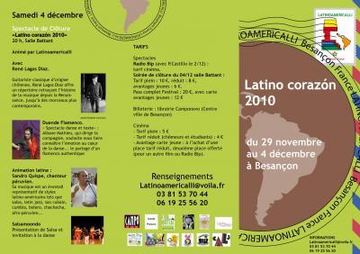 Latino corazon depliant 2010