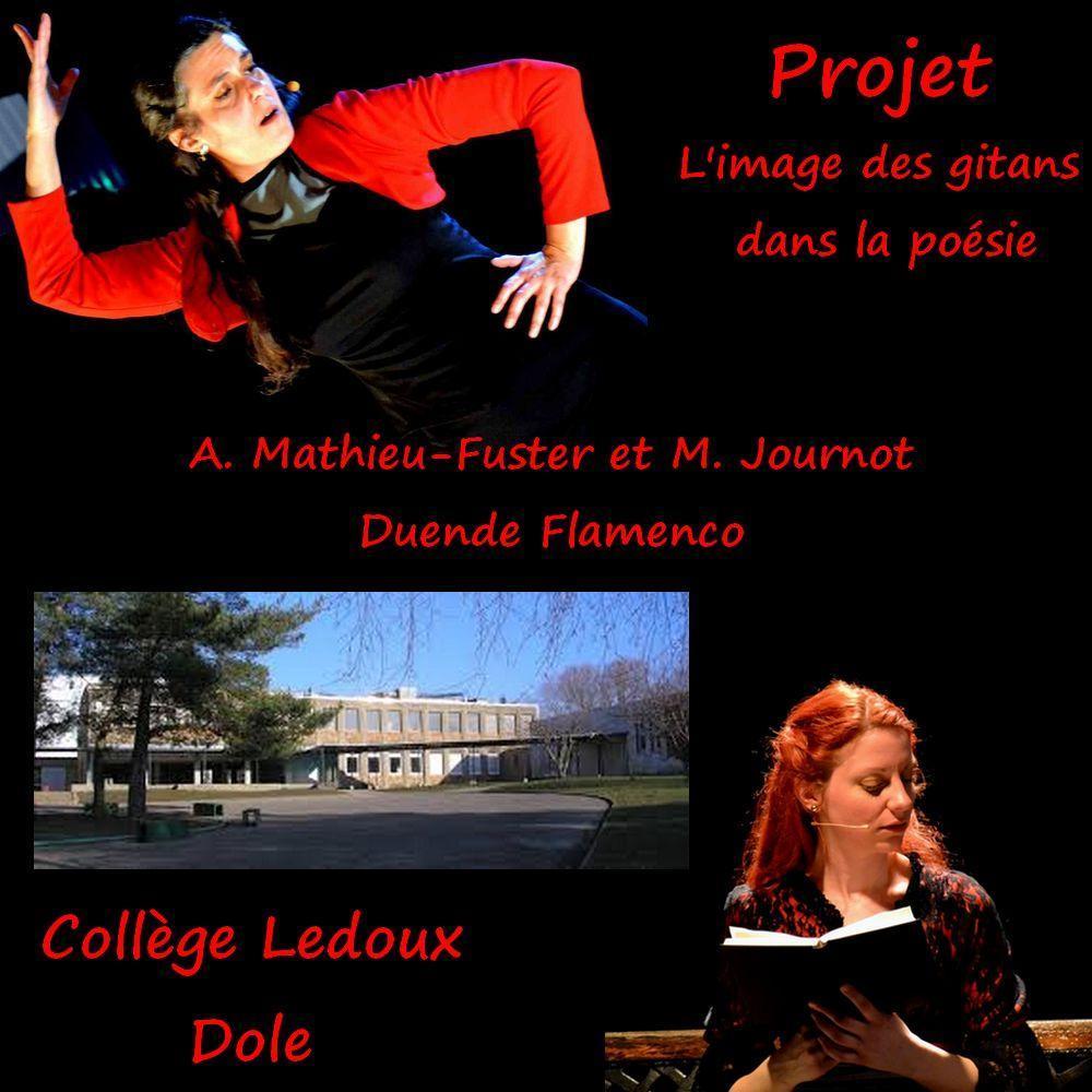 Projet gitans poesie duende flamenco colege ledoux dole