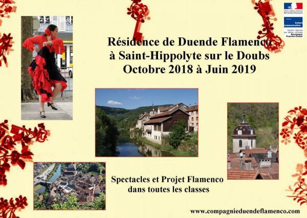 Residence duende flamenco a st hippolyte sur le doubs 2018 2019 comp