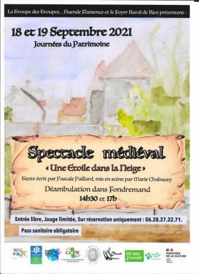 Spectacle medieval fondremand 18 et 19 sept21